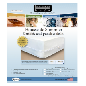 HOUSSE DE PROTECTION DU SOMMIER ANTI-PUNAISES MATTRESS SAFE ®